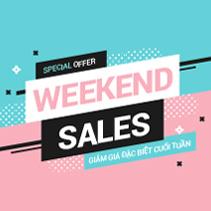 khuyến mãi weekend sales