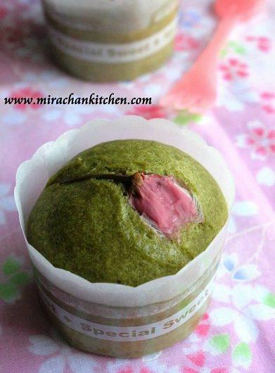 Sakura Matcha Mushi pan