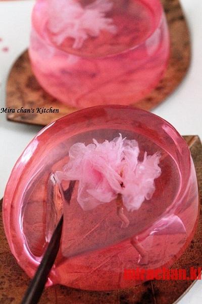 Sakura Jelly ! Rau câu hoa anh đào