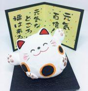 Mèo Maneki Neko cầu sức khỏe và may mắn