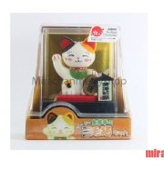 Mèo Maneki Neko tam thể lắc lư đầu gọi tài lộc đến
