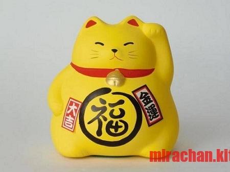 Mèo Maneki Neko bụng phệ ( vàng)
