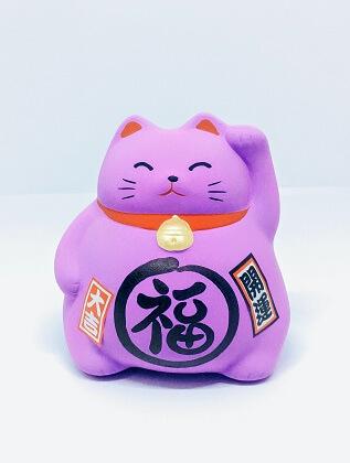 Mèo Maneki Neko bụng phệ cầu may mắn