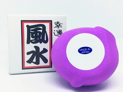 Mèo Maneki Neko màu tím cầu may mắn
