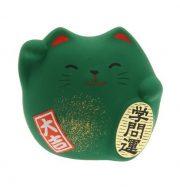 Mèo Maneki Neko xanh cầu thi cử thành công