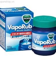 Dầu Vicks Vaporub giảm ho, chống ngạt