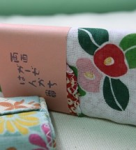 Khăn Tay Nhật Tenugui ( mẫu hoa Tsubaki)