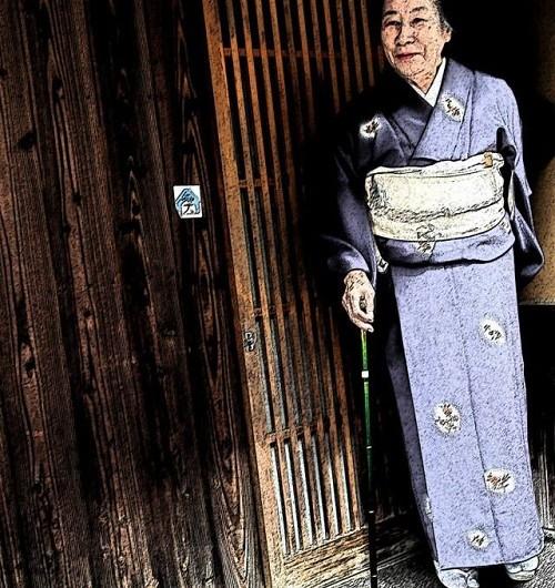 Chuyện người già ở Nhật - Kimono và Con chó đá