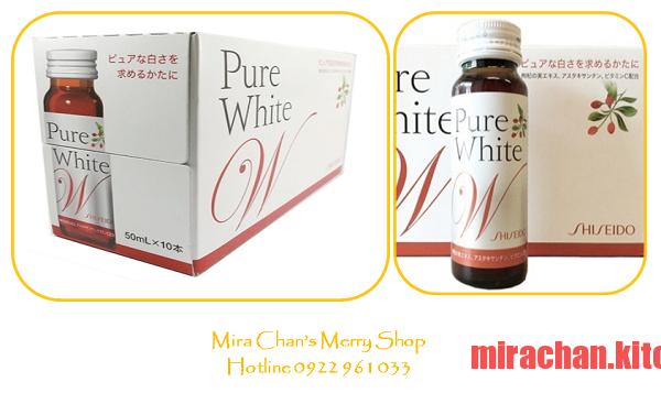 collagen uống dưỡng trắng da Shiseido Pure White W ( dạng nước )