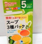 Soup 3 vị dành cho bé từ 5th tuổi