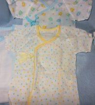 Set quần áo trẻ sơ sinh kiểu Nhật kimono (set 5 áo, màu vàng xanh, size 50 - 60 cm)