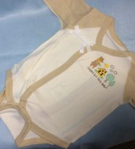 Set quần áo trẻ sơ sinh kimono kiểu Nhật (màu nâu, set 2 cái, size 50-60 cm)