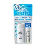 Set khuyến mãi kem chống nắng Anessa dưỡng trắng da mặt và toàn thân