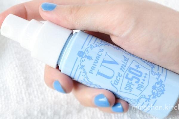 Tiện lợi với xịt chống nắng phun sương- Privacy UV Face Mist SPF 50+