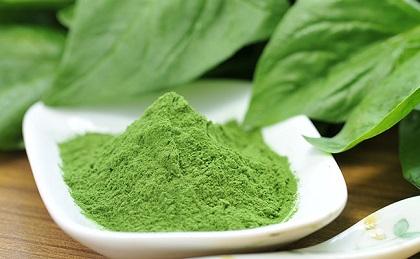 Bột rau xanh của Nhật từ rau chân vịt
