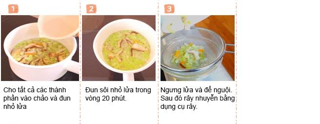 cách làm súp rau cho bé