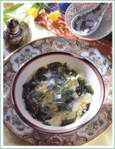 súp rong biển và kanten