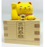 Mèo Vàng may mắn cầu công việc đựng trong hộp