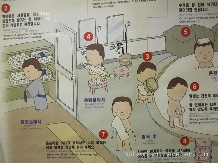 trình tự tắm onsen tại nhật