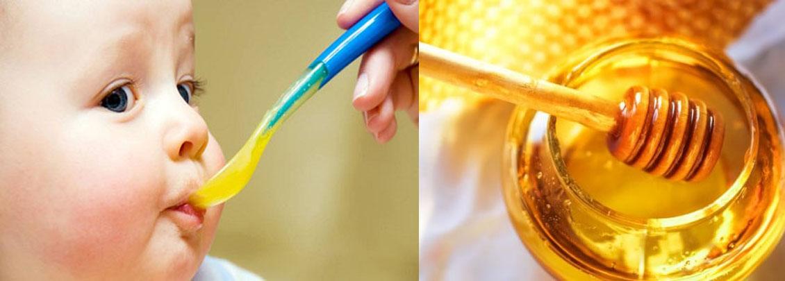 cho trẻ ăn mật ong