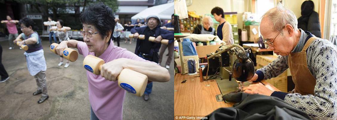 người già ở Nhật