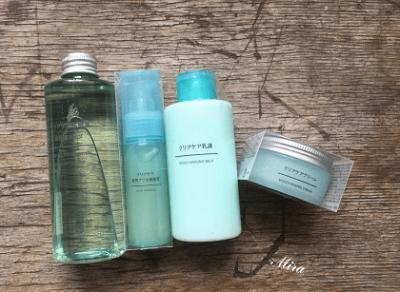 Set trị mụn cho da dầu nhạy cảm của Muji