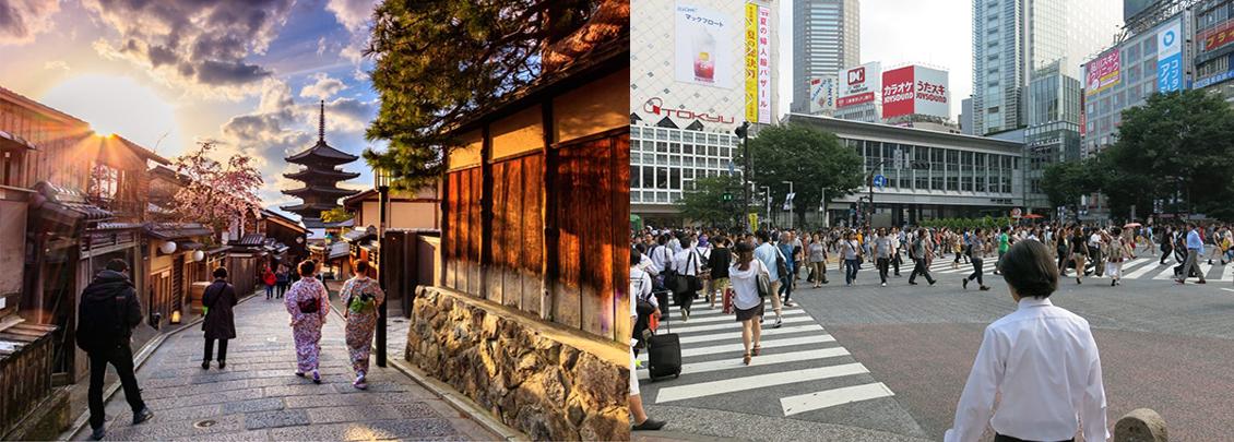 sự khác nhau giữa kyoto và tokyo