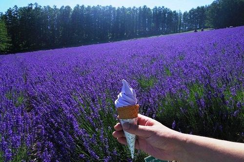 kem màu tím
