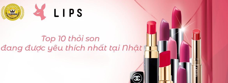 10 son môi được yêu thích tại Nhật