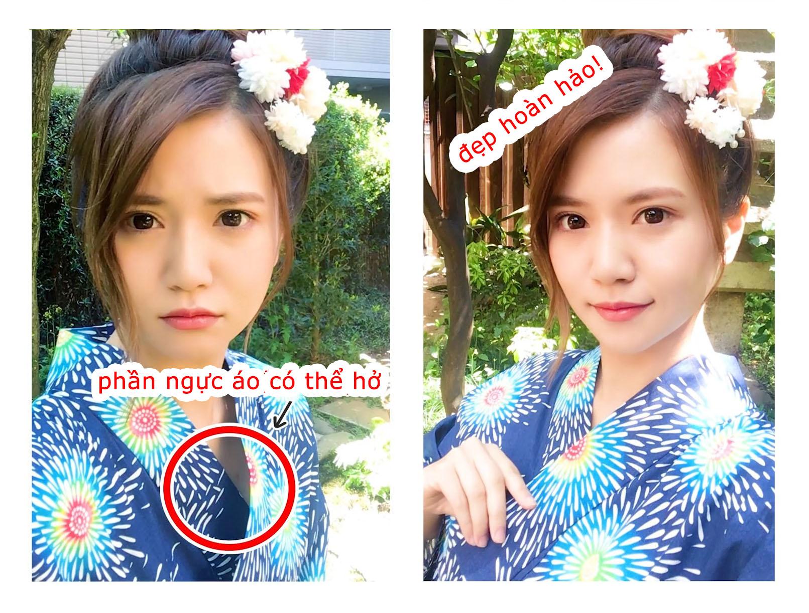 tính cách phụ nữ Nhật - chụp Yukata bên trái