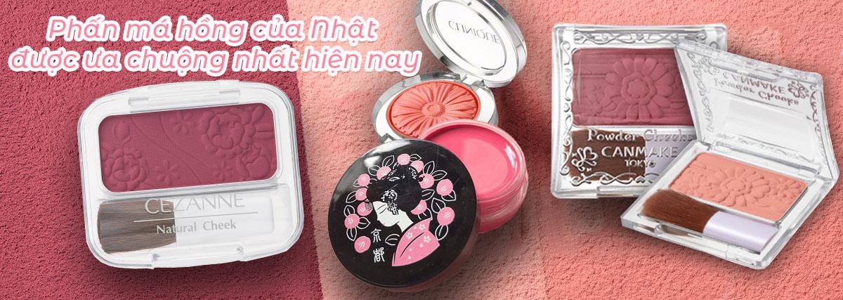 Top phấn má hồng Nhật Bản