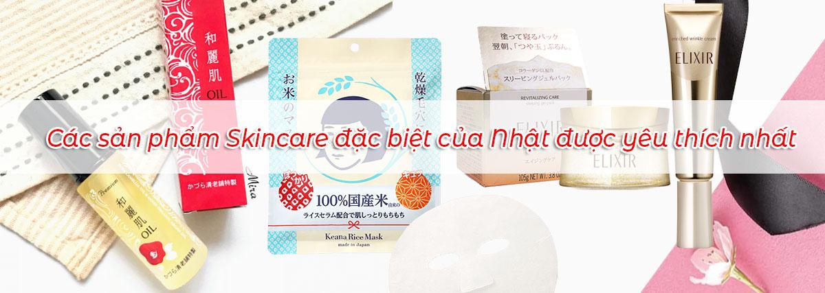 các sản phẩm skincare đặc biệt của nhật