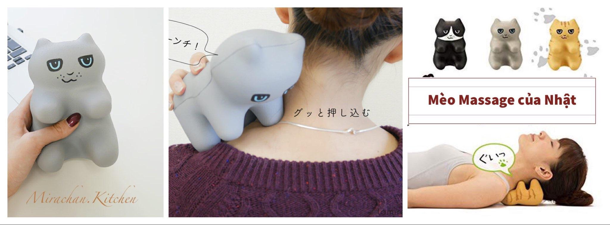 Dụng cụ massage cầm tay của Nhật con mèo