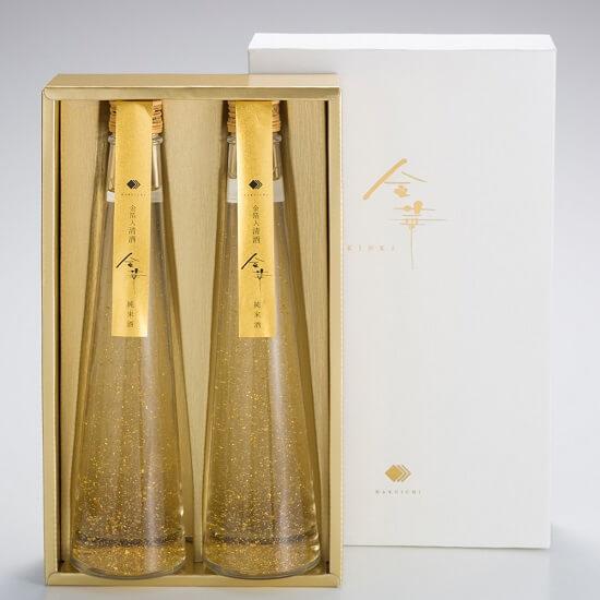 Set rượu sake lá vàng Hakuichi