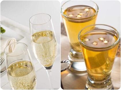 Set quà Tết rượu mơ lá vàng