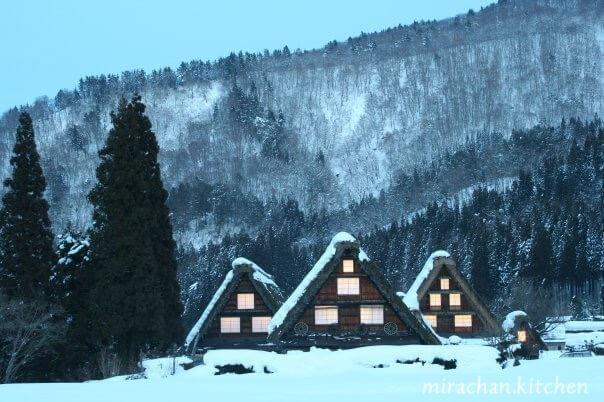 làng cổ shirakawago mùa đông