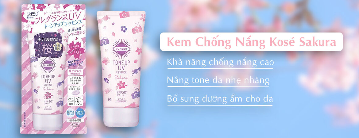 review kem chống nắng Kose - cover