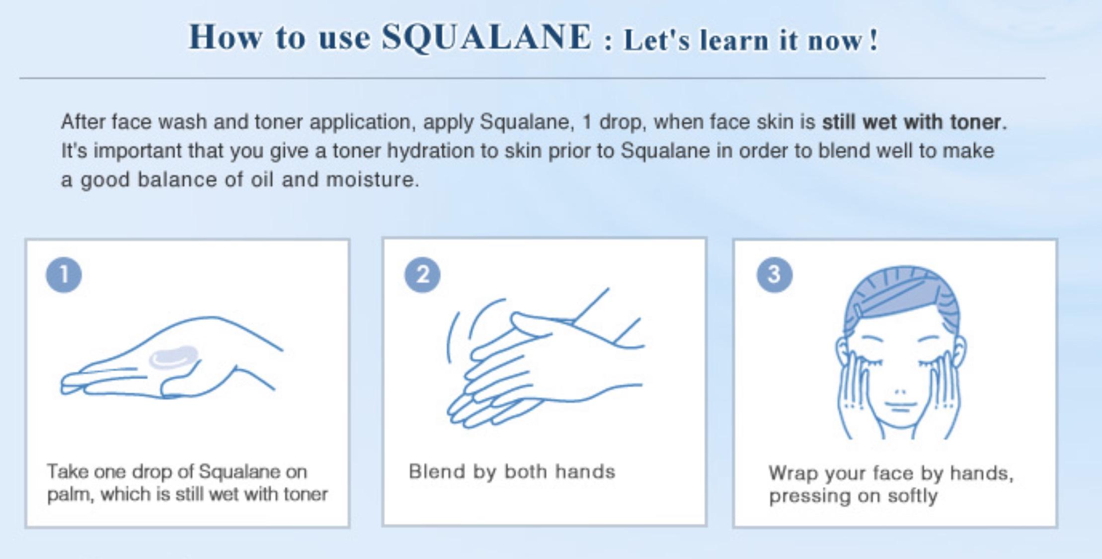 Cách sử dụng tinh dầu Squalane