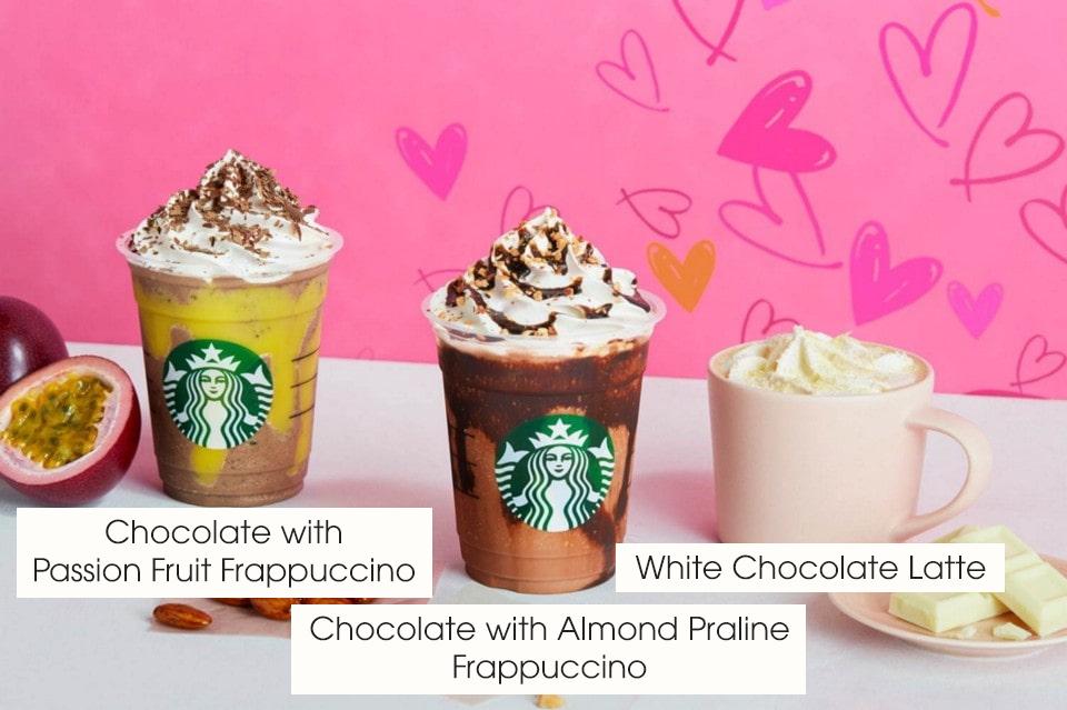 menu Starbucks ở Nhật - Choco